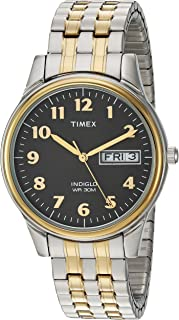 Men's T2N093 Charles Street Two-Tone Extra-Long Stainless Steel Expansion Band Watch