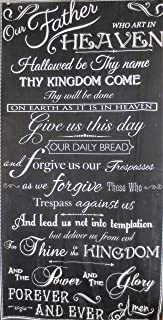 The Lord's Prayer On Panel 28X44 Black Cotton Fabric C6696
