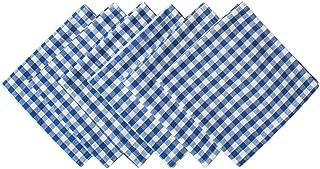 DII Blue Farm Check Oversized Basic Everyday Napkin (Set of 6), 20