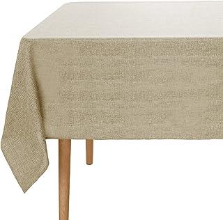 Amazon Brand - Umi Nappe Rectangulaire Effet Lin Impermeable 137x200cm Lin