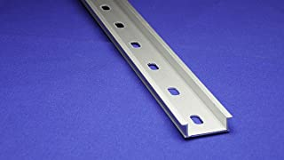 DIN Rail - 600 mm (24 Inch) NEW Pre-Cut 35x10mm Heavy Duty Aluminum, Slotted