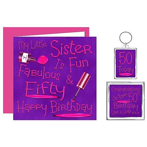 My Little Sister 50th Happy Birthday Gift Set