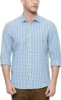 BASICS Slim Fit French Blue Checks Shirt