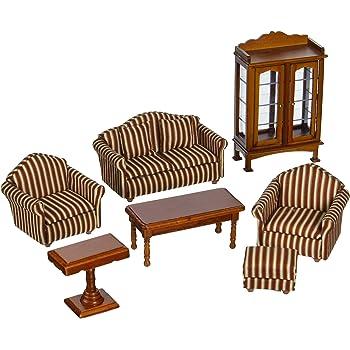 Melissa & Doug Doll-House Furniture- Living Room Set