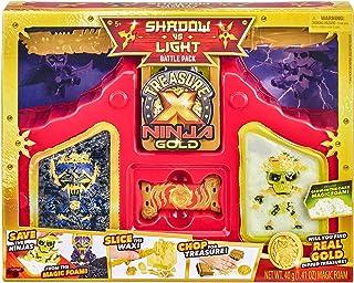 TREASURE X 41618 Ninja Gold Shadow vs Light Battle Pack, Multi Color