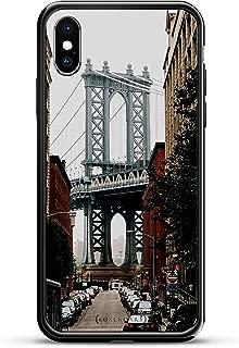MANHATTAN BRIDGE SEETHROUGH | Luxendary Chrome Series designer case for iPhone X in Titanium Black trim