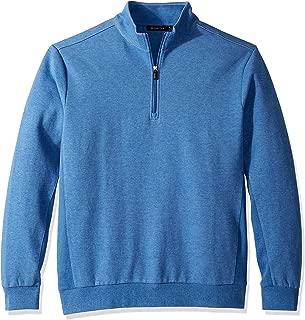 Bugatchi Men's Long Sleeve 1/4 Zip Pullover Sweatshirt