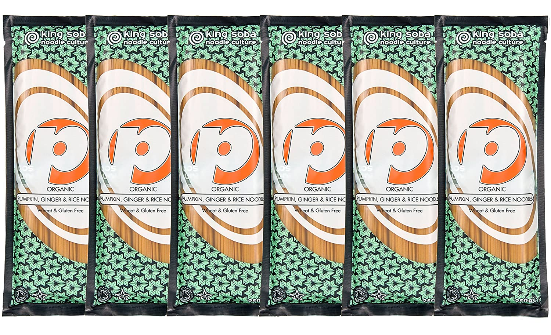 King Soba Gluten-Free Organic 5 ☆ popular Manufacturer OFFicial shop Brown Pumpkin Rice Ginger Past