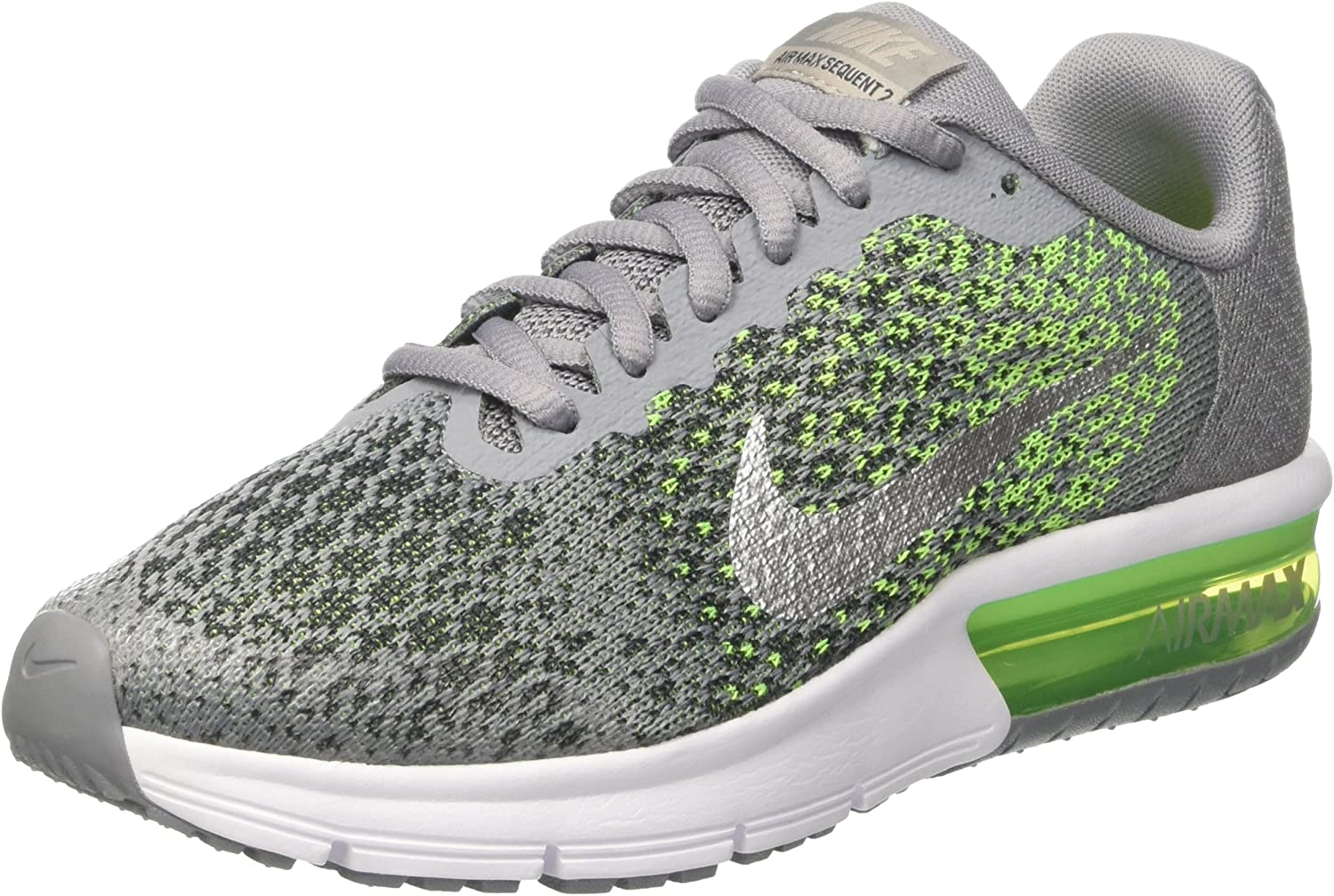 NIKE Boys' Air Max Sequent 2 Running Shoe (GS)