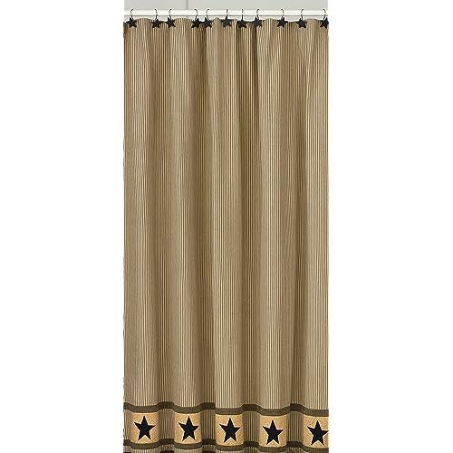 Park Designs Primitive Star Shower Curtain