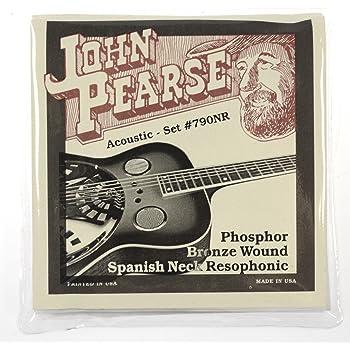 John Pearse Resophonic Guitar Phosphor Bronze Spanish Neck, .013 - .056, 790NR