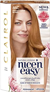 Clairol Nice 'n Easy Permanent Hair Color, 8Sc Medium Copper Blonde, 1 Count, Blondes