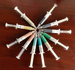 محاقن معجون اللاصق، 11 قطعة، من سيجني، 0.5 إلى 40 ميكرون، 5 جرام لتلميع المعادن والمجوهرات