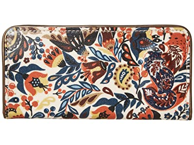 Sakroots Artist Circle Slim Wallet (Clay Enchanted Forest) Wallet Handbags