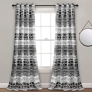 Lush Decor Hygge Geo Room Darkening Window Curtain Panel Pair, 84