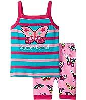 Hatley Kids - Electric Butterflies Tank PJ Set (Toddler/Little Kids/Big Kids)
