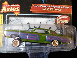Revell 70 Chevy Monte Carlo Lowrider Named (Jest Klownin) Issue#17 Special Graphics, Adjustable axles, Opening Trunk Lowriders Edition 1:64 Scale die-cast