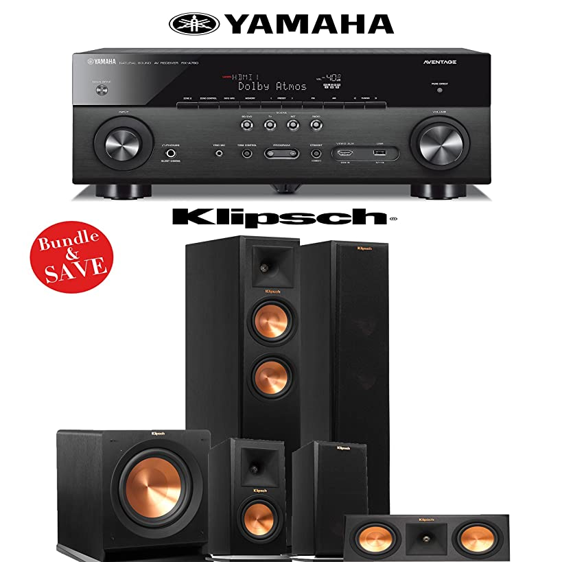 Klipsch RP-250F 5.1 Reference Premiere Home Theater System with Yamaha RX-A760BL 7.2-Ch Network A/V Receiver