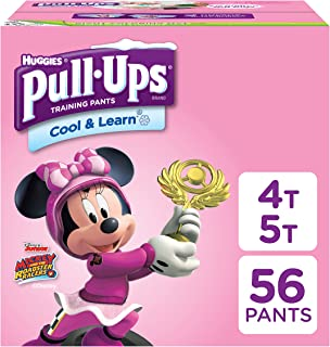 Pull-Ups Cool & Learn Potty Training Pants for Girls, 4T-5T (38-50 Pound), 56 Count (Packaging May Vary)