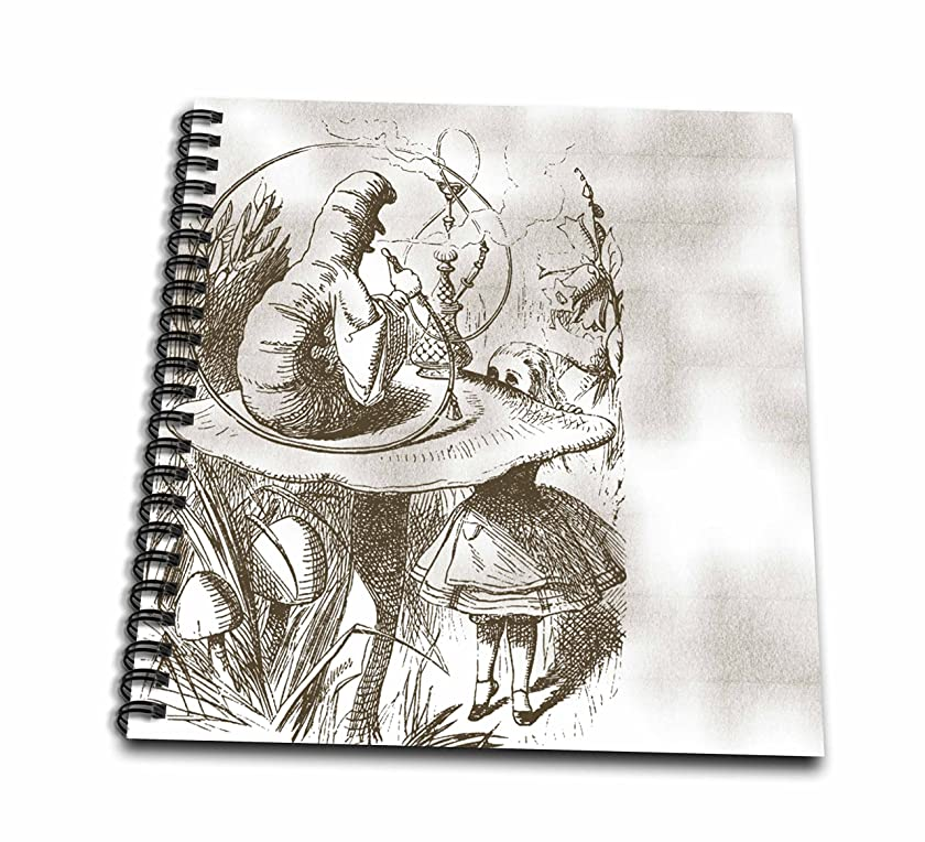 3dRose LLC db_110199_2 Memory Book, 12 by 12-Inch, Caterpillar on Mushroom Vintage Alice in Wonderland
