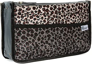 Periea Handbag Organiser - Chelsy - 28 Colours Available - Small, Medium Large (Medium, Gold Leopard)