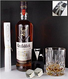 Geschenk Glenfiddich Solera 15 Jahre Single Malt Whisky  Glas  2 Whiskey Kühlsteine