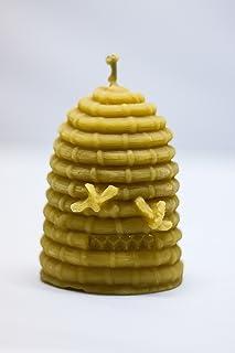 Honey-Gold Bienenkorbkerze 100% Bienenwachs aus Deutschland 1