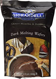Ghirardelli Chocolate Melting Wafers (for Candy Making and Dipping), 2 Pound Bag (Dark Chocolate)