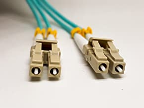 LC to LC OM3 Fibre Optic Patch Cable,OM3 Multimode,10Gb Fiber Duplex 50/125 OFNP Micron Fiber Patch Cable lc to lc 3M (9.842ft), Multimode OM3 SFP Cable, 3MM PVC.