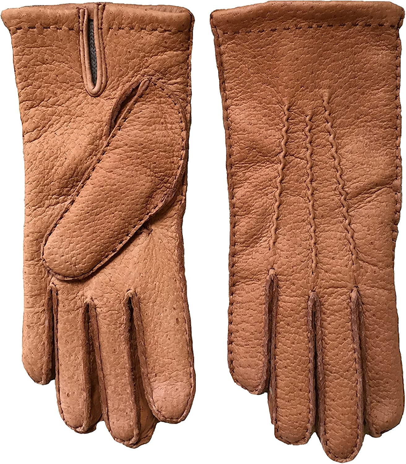 Men's Peccary Leather Max 69% OFF Gloves Lined Fresno Mall Cork Cashmere