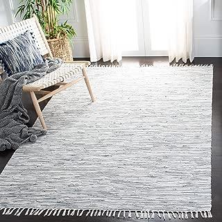 Safavieh Montauk Collection MTK753A Handmade Flatweave Silver Cotton Area Rug (3' x 5')