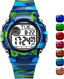 AZLAND 3 Multiple Alarms Reminder Sports Kids Wristwatch...
