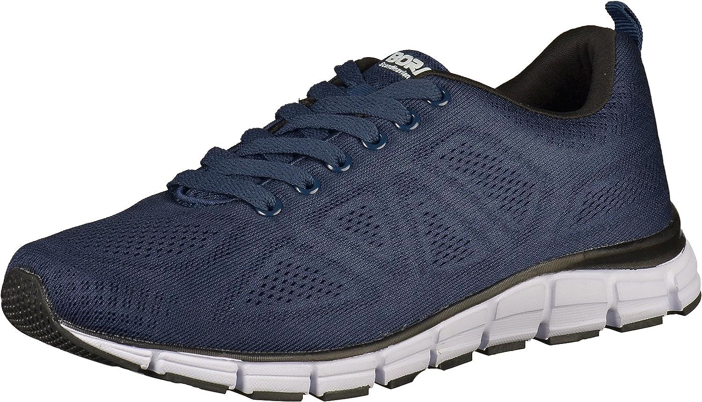 Boras Fashion Sports Unisex Turnschuhe Basic blau weiss weiss auch in überGrößen 5203-0051  perfekt