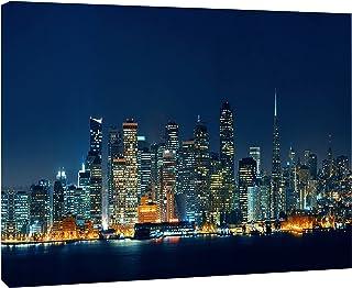 "Designart PT10039-20-12 San Francisco Skyline at Night-Cityscape Canvas print-20x12, 12"" H x 20"" W x 1"" D 1P"