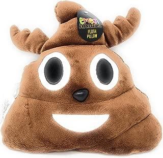 reindeer poop emoji pillow