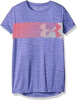 Under Armour Girls Under Armour Girls' Hybrid Big Logo Short Sleeve T-Shirt Hoodie