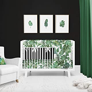 Tropical Palm 3 Piece Baby Nursery Crib Bedding Set