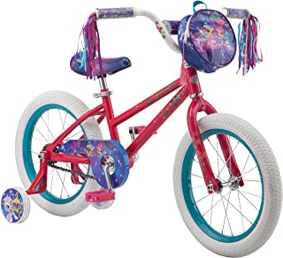 Nickelodeon Shimmer & Shine Girl's Bicycle with Training Wheels, Teal