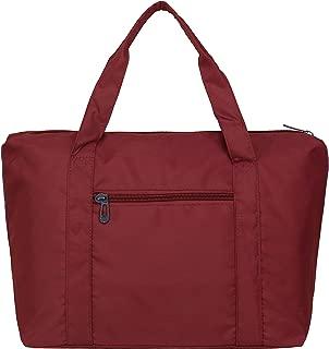 Large Foldable Travel Duffel Bag for Women & Men, Waterproof Nylon Gym Bag Overnight Weekender Bag, Lightweight Carry-on Tote Duffel Shoulder Purse in Trolley Handle