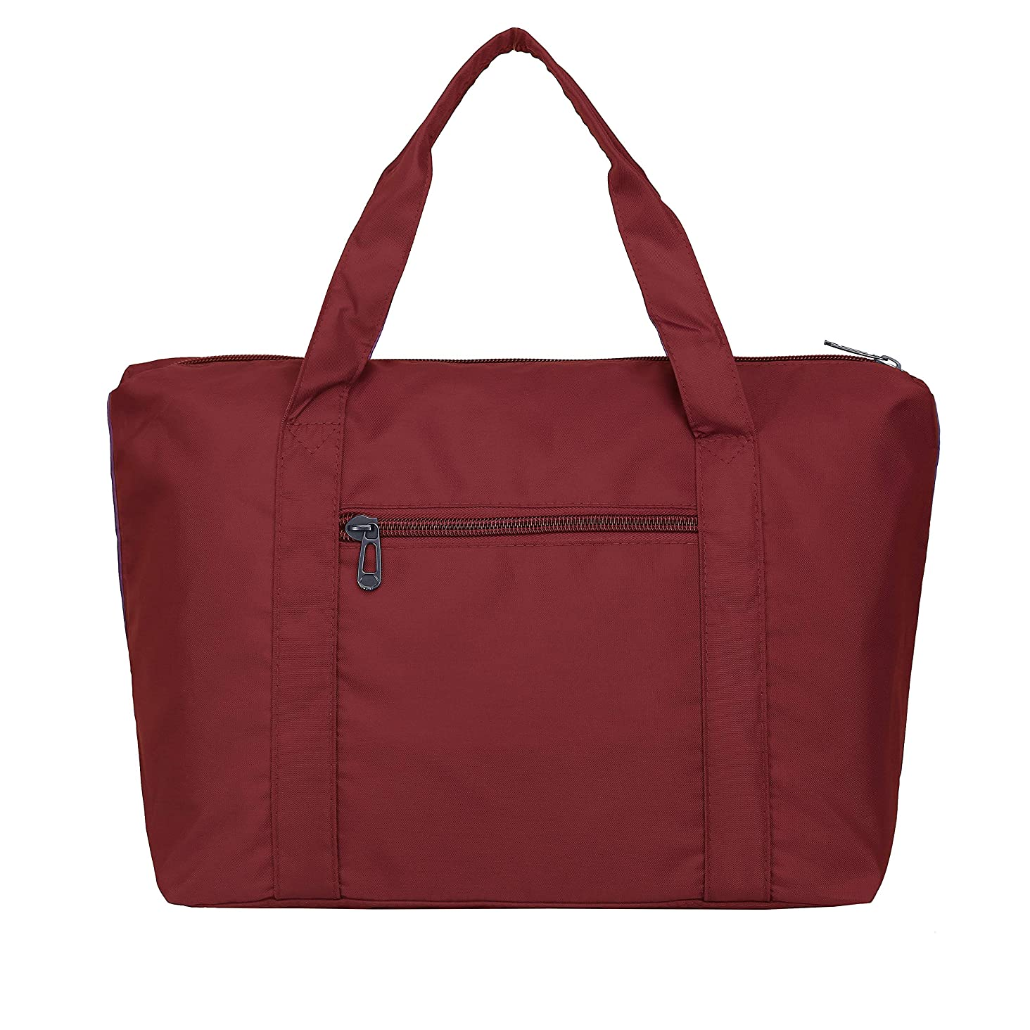 Large Foldable Travel Duffel Bag, Waterproof Soft Oxford Nylon Lightweight Carry-on Tote Duffel in Trolley Handle