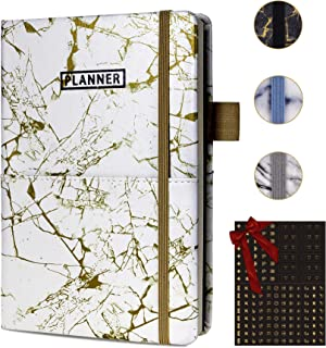 SynLiZy A5 Undated Planner Academic Monthly & Weekly Planner 12 Months 53 Weeks 5.7
