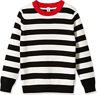 Kid Nation Kid's Sweater Long Sleeve Crew Neck Pullover Stripe Cotton Knit Sweater for Boys or Girls