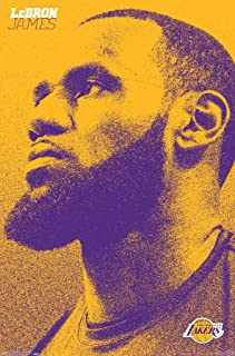 """Trends International NBA Los Angeles Lakers - Lebron James 18 Wall Poster, 22.375"""" x 34"""", Premium Unframed"""