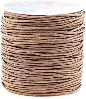 Mandala Crafts Blinds String, Lift Cord Replacement from Braided Nylon for RVs, Windows, Shades, and Rollers (2mm, Oak)