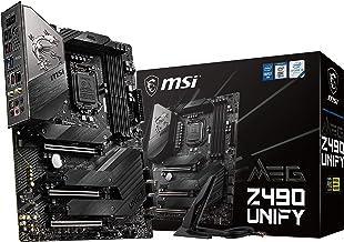 MSI MEG Z490 Unify ATX Gaming Motherboard (10th Gen Intel Core, LGA 1200 Socket, SLI/CF, Triple M.2 Slots, USB 3.2 Gen 2, Wi-Fi 6)