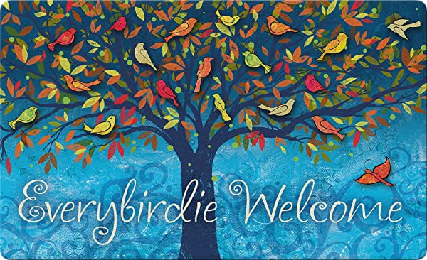 Toland Home Garden Everybirdie Welcome 18 X 30 Inch Decorative Bird Floor Mat Fall Leaves Doormat