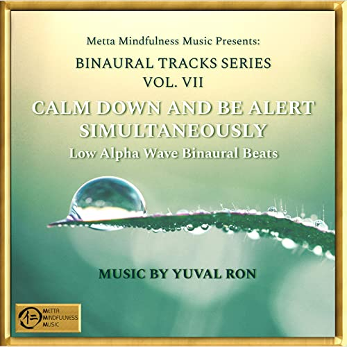 Calm Down And Be Alert Simultaneously: Low Alpha Wave Binaural Beats
