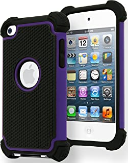 Bastex Hybrid Armor Case for Apple iPod Touch 4, 4th Generation - Purple & Black
