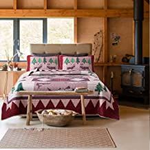 Soul & Lane Wild Wonders Cabin Lodge 3-Piece Lightweight Printed Quilt Set (King) | with 2 Shams Pre-Washed All-Season Machine Washable Bedspread Coverlet
