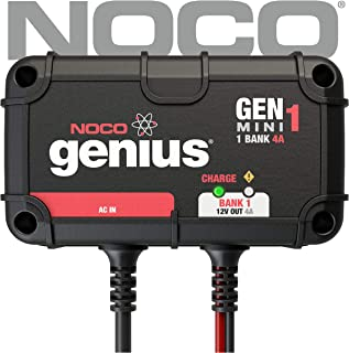 NOCO Genius GENM1 4 Amp 1-Bank On-Board Battery Charger